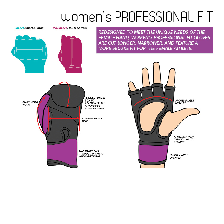 Women's Professional Glove Fit