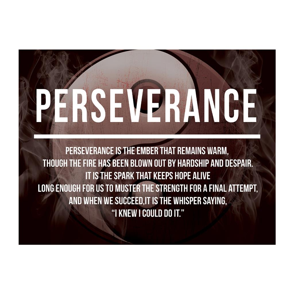 Persistence Motivational Quotes: Definition Poster - Perseverance