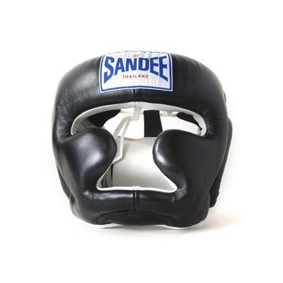 Sandee Closed Face Leather Head Guard