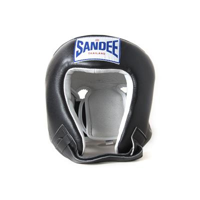 Sandee Open Face Leather Head Guard