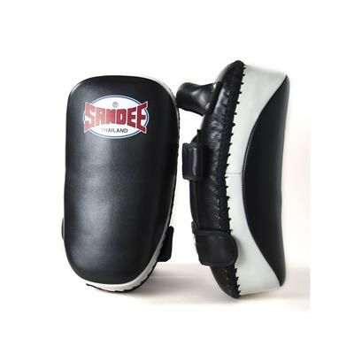 Sandee Curved Thai Leather Kick Pads